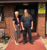 One of our service users outside of his supported housing.