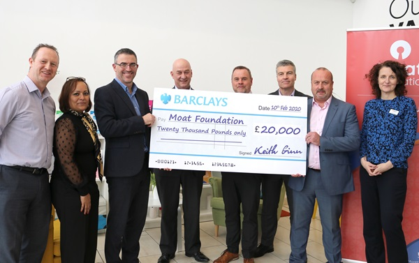 Armour Hart presents £20,000 cheque