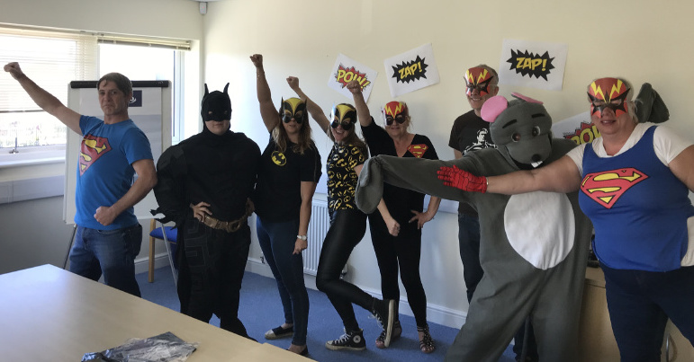 Our East Kent Team fundraising for Superhero Friday