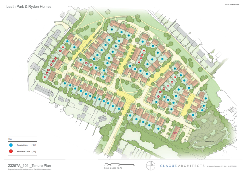A site map of our future development in Littlebourne, Canterbury
